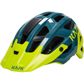 Kask Rex Cykelhjelm, dark green/yellow